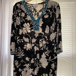 Donna Morgan Dress with Floral Print - Size 14